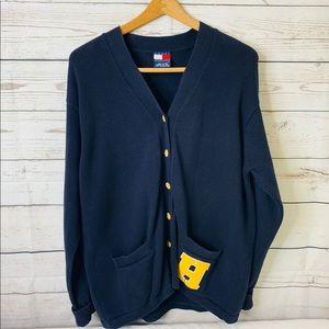 TOMMY HILFIGER varsity letterman cardigan sweater